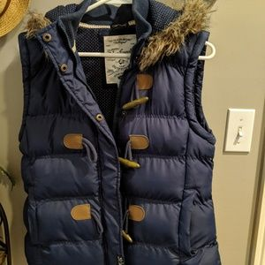 Jackets & Coats - Blue Puffer Vest